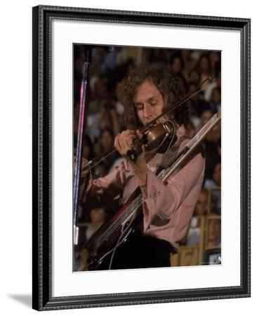 "Electric Violinist Rick Grech from the Group ""Blind Faith.""-John Olson-Framed Premium Photographic Print"