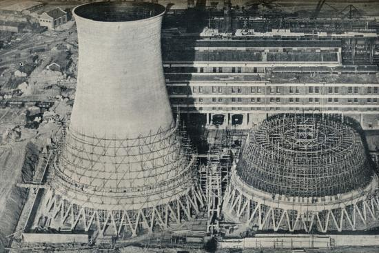 Electrical Power Station at Water Orton, Hams Hall, near Birmingham, 1928-Unknown-Photographic Print