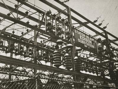 Electrical substation Number 1 on Staten Island, New York, USA, early 1930s-Unknown-Framed Photographic Print