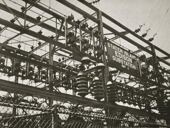 Electrical substation Number 1 on Staten Island, New York, USA, early 1930s-Unknown-Photographic Print