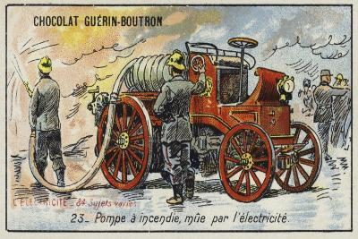 Electrically-Powered Fire Engine--Giclee Print
