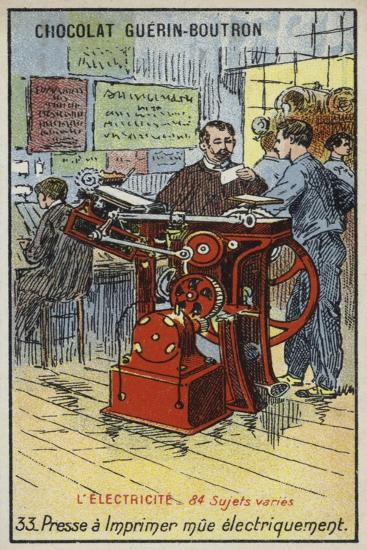 Electrically-Powered Printing Press--Giclee Print