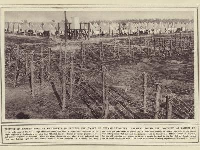 Electrified Barbed-Wire Entanglements to Prevent the Escape of German Prisoners--Photographic Print