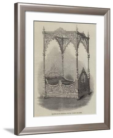 Electro-Silver Bedstead for the Viceroy of Egypt--Framed Giclee Print