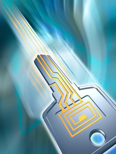 Electronic Data Security-PASIEKA-Photographic Print