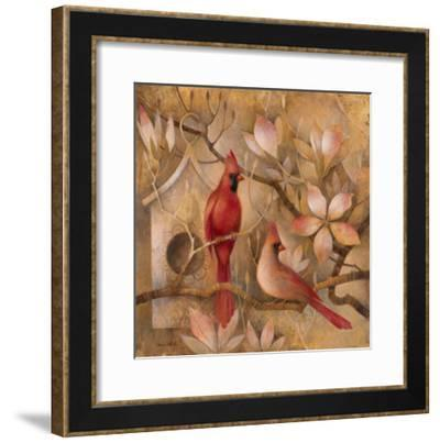 Elegance in Red I-Elaine Vollherbst-Lane-Framed Art Print