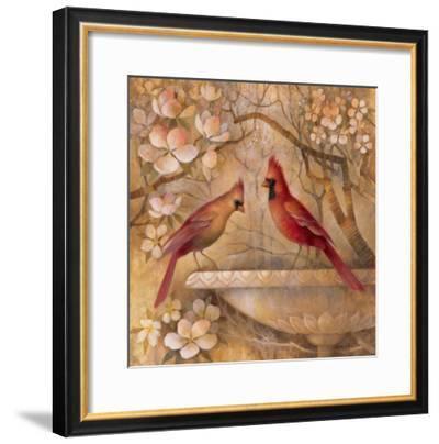 Elegance in Red II-Elaine Vollherbst-Lane-Framed Art Print