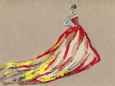 Elegant Dress .Abstract Watercolor-Anna Ismagilova-Art Print