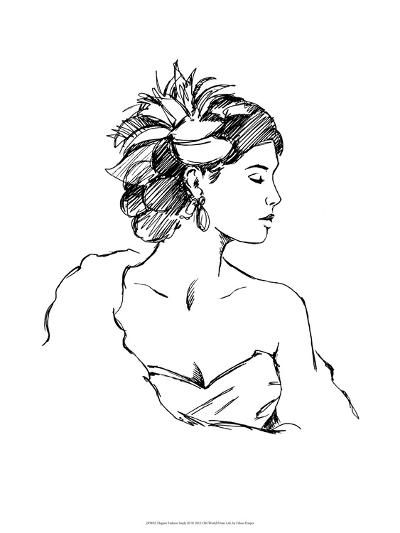 Elegant Fashion Study III-Ethan Harper-Art Print