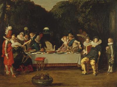 Elegant Figures Feasting in an Arbour-Dirck Hals-Giclee Print