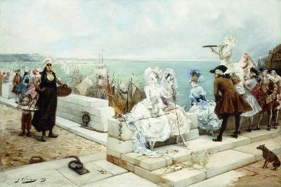 Elegant Figures Watching the Regatta, 1889-Georges Clairin-Giclee Print