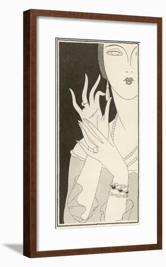 Elegant Lady and Jewellery--Framed Giclee Print