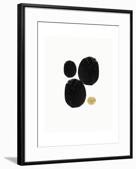 Elegant Modern Abstract V-Linda Woods-Framed Art Print