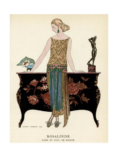 Elegant Woman in Visiting Dress 1922-Georges Barbier-Giclee Print