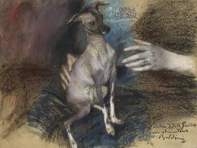 Elegante Au Chien-Giovanni Boldini-Giclee Print