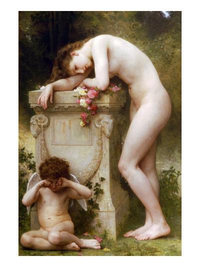 Elegy-William Adolphe Bouguereau-Art Print