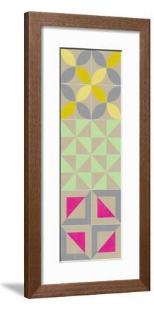 Elementary Tile Panel I-Chariklia Zarris-Framed Art Print