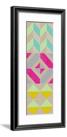 Elementary Tile Panel II-Chariklia Zarris-Framed Art Print