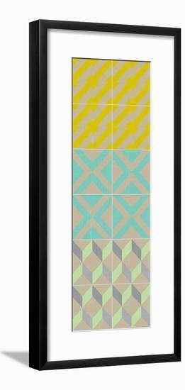 Elementary Tile Panel III-Chariklia Zarris-Framed Art Print