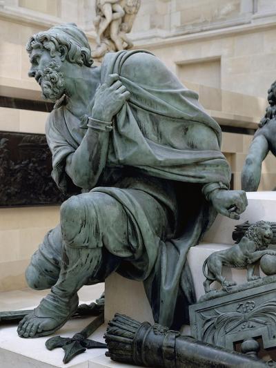 Eléments provenant du Monument à la gloire de Louis XIV. Les Quatre Nations vaincues-Martin Desjardins-Giclee Print