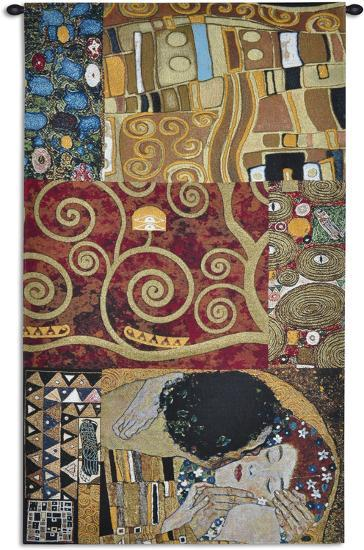 Elements to a Kiss-Gustav Klimt-Wall Tapestry
