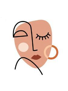 Abstract Woman Face by Elena David