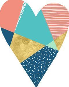 Geometric Heart by Elena David