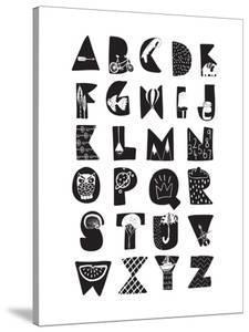 Monochrome Alphabet by Elena David