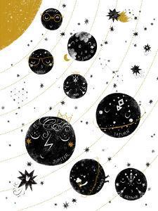 Monochrome Solar System by Elena David