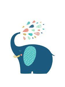 Scandi Elephant by Elena David