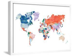 Watercolor World Map by Elena David