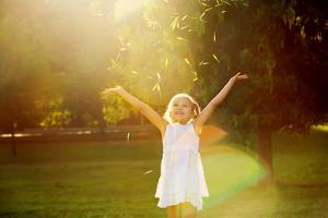 Girl Playing in the Sun by Elena Efimova