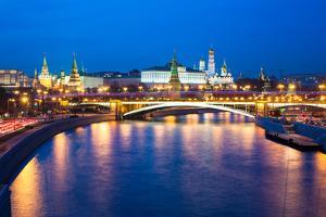 Dusk View of the Moscow Kremlin by Elena Ermakova