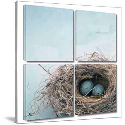 Blue Nest 4 piece gallery-wrapped canvas