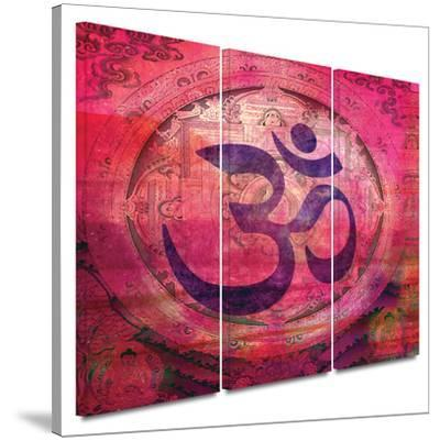Om Mandala 3 piece gallery-wrapped canvas