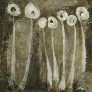 White Flowers Abstract I by Elena Ray