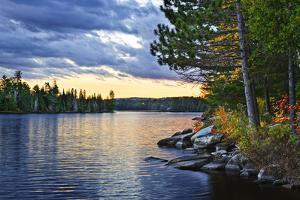 Dramatic Sunset at Lake by elenathewise