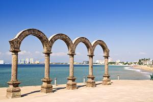 Los Arcos Amphitheater at Pacific Ocean in Puerto Vallarta, Mexico by elenathewise