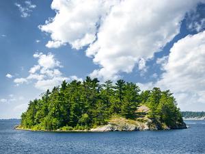 Small Rocky Island in Georgian Bay near Parry Sound, Ontario, Canada. by elenathewise