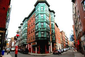 Street Intersection in Boston Historical North End by elenathewise