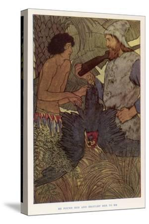 Robinson Crusoe Shoots a Parrot Which He and Friday Eat for Supper