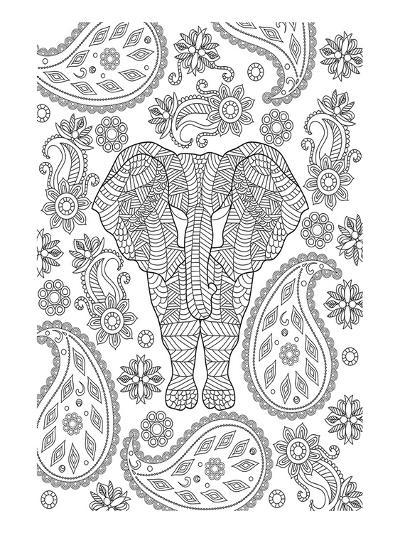 Elephane & Teardrop Coloring Art--Coloring Poster