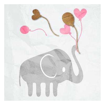 Elephant Balloon-Jace Grey-Art Print