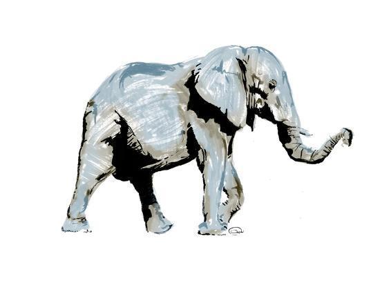 Elephant Blues-OnRei-Art Print