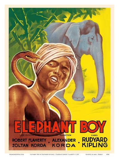 Elephant Boy by Rudyard Kipling - Starring Robert Flaherty-Pacifica Island Art-Art Print