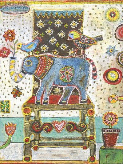 Elephant Chair-Jill Mayberg-Giclee Print