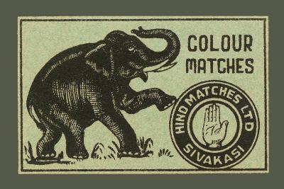 Elephant Colour Matches--Art Print