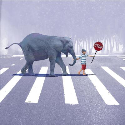 Elephant Crossing-Nancy Tillman-Art Print