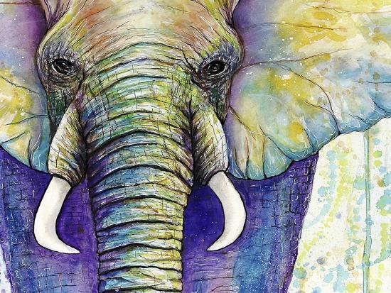 Elephant Face-Michelle Faber-Giclee Print