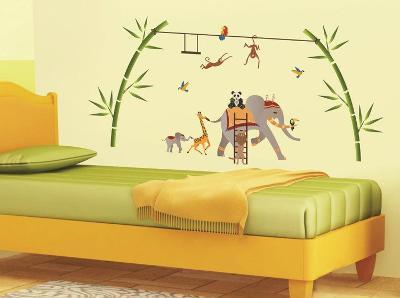 Elephant Fantasy Wall Decal Sticker--Wall Decal